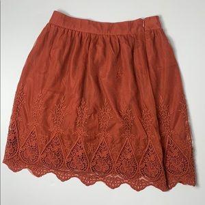 Forever 21 Lace Overlay Skirt